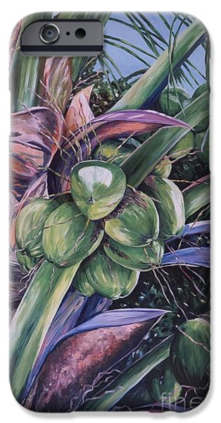 Usvi iPhone Cases - Coconuts   14x26 iPhone Case by John Clark