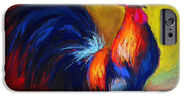 National Pastels iPhone Cases - Cocorico Coq Gaulois iPhone Case by Mona Edulesco