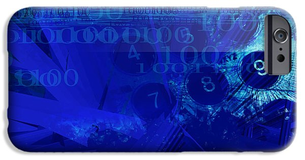 Finance iPhone Cases - Code in Blues iPhone Case by GP Images