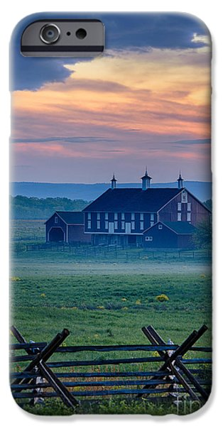 Fieldstone iPhone Cases - Codori Farm and Gettysburg Battlefield iPhone Case by John Greim