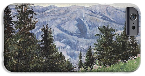 Wyoming iPhone Cases - Cody Mountain iPhone Case by Don  Langeneckert