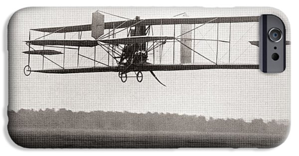 Franklin iPhone Cases - Codys Biplane In The Air In 1909.  Samuel Franklin Cowdery, Later Known As Samuel Franklin Cody iPhone Case by Bridgeman Images