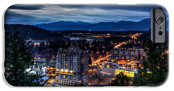 City Scape Photographs iPhone Cases - Coeur d alene Obscurity iPhone Case by Derek Haller
