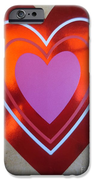 Thinking iPhone Cases - Coeurs / Hearts iPhone Case by Dominique Fortier