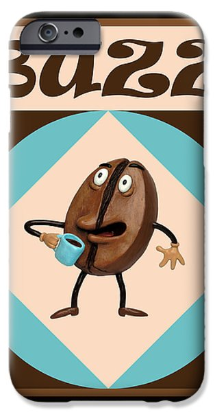 Coffee Buzz iPhone Case by Amy Vangsgard