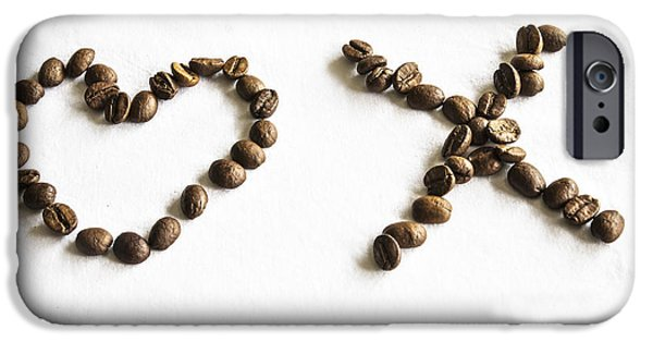 I Love America iPhone Cases - Coffee Bean Love iPhone Case by Nomad Art And  Design
