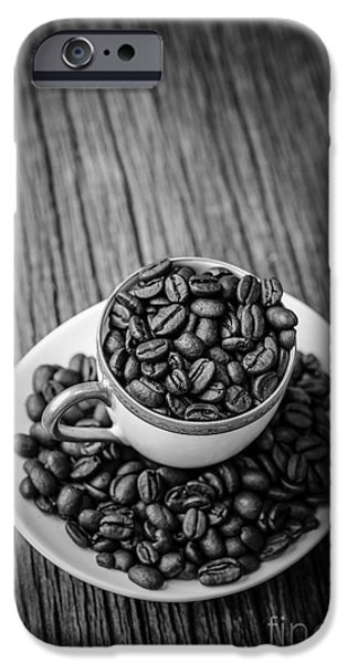 Crops iPhone Cases - Coffee Beans iPhone Case by Edward Fielding