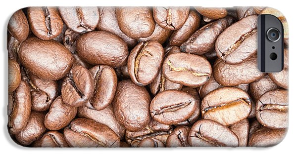 Fine Art Abstract iPhone Cases - Coffee Beans iPhone Case by Wim Lanclus