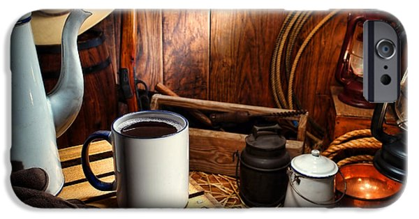 Wagon Photographs iPhone Cases - Coffee Break at the Chuck Wagon iPhone Case by Olivier Le Queinec