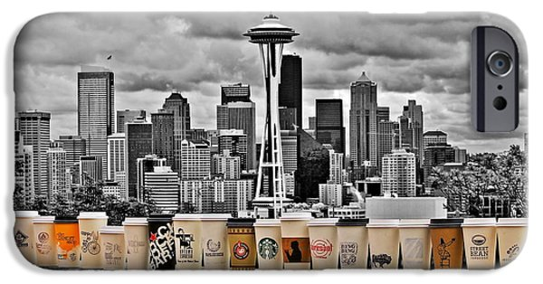 Seattle iPhone Cases - Coffee Capital iPhone Case by Benjamin Yeager