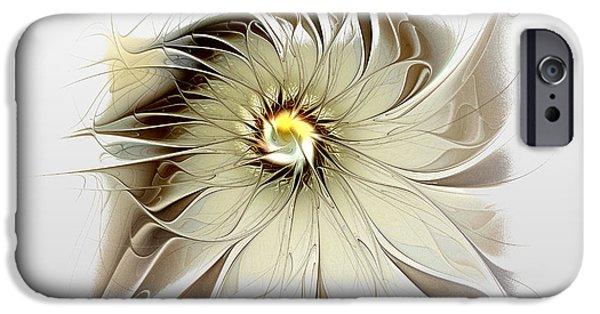 Floral Digital Art Digital Art iPhone Cases - Coffee Cream iPhone Case by Amanda Moore