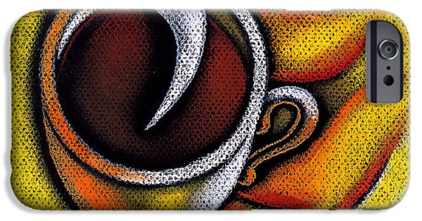 Comfort Paintings iPhone Cases - Coffee Cup  iPhone Case by Leon Zernitsky