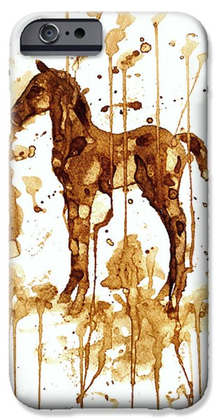 Coffee Foal iPhone Case by Zaira Dzhaubaeva