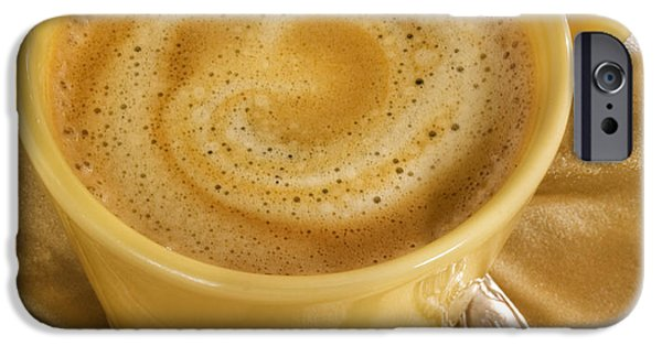 Commercial Photography iPhone Cases - Coffee in Yellow iPhone Case by Iris Richardson