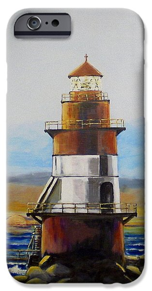 Lighthouse Sculptures iPhone Cases - Coffee Pot Light iPhone Case by William Osmundsen