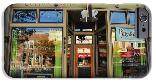 Clare Michigan iPhone Cases - Coffee Talk in Clare Michigan iPhone Case by Terri Gostola