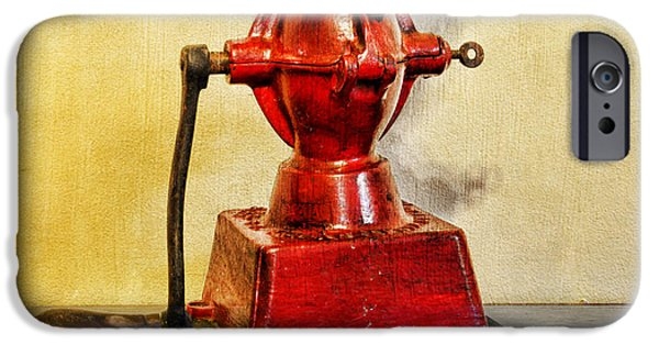 Old Grinders iPhone Cases - Coffee The Morning Grind iPhone Case by Paul Ward