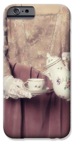 Edwardian iPhone Cases - Coffee Time iPhone Case by Joana Kruse