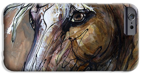 Paso Fino Stallion iPhone Cases - Coffee with Creme iPhone Case by Jonelle T McCoy