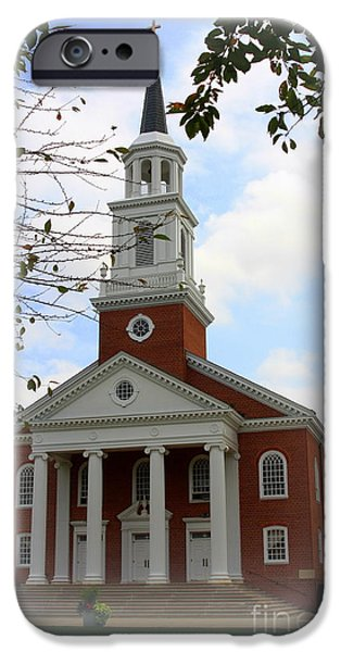 Wedding Bells iPhone Cases - Coffman Chapel at Hood College iPhone Case by Patti Whitten