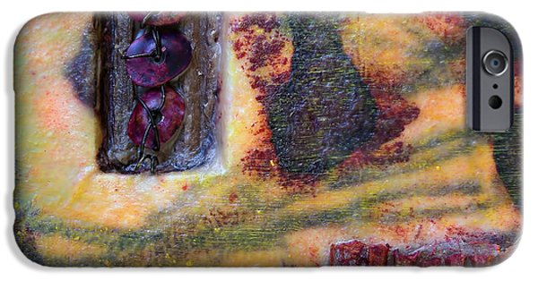 Coins Mixed Media iPhone Cases - Coin Of The Realm 2 Encaustic iPhone Case by Bellesouth Studio