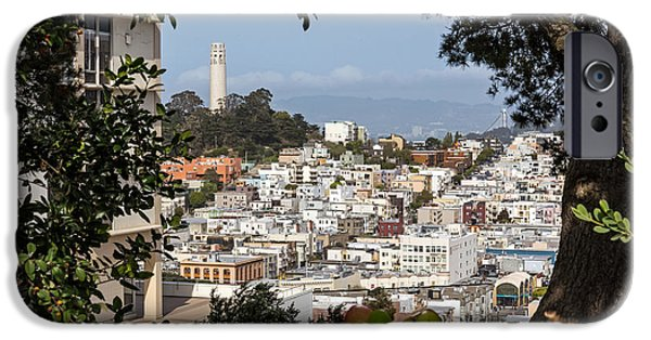 Building iPhone Cases - Coit Tower View iPhone Case by Kate Brown