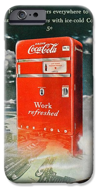 Production Line iPhone Cases - Coke - Coca Cola Vintage Advert iPhone Case by Nomad Art And  Design