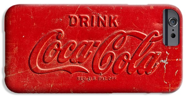 Coca-cola Signs iPhone Cases - Coke Sign iPhone Case by Jill Reger