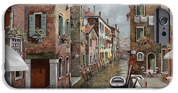 Dating iPhone Cases - colazione a Venezia iPhone Case by Guido Borelli