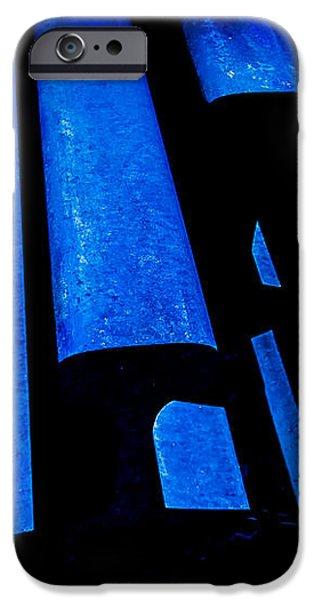 Cold Blue Steel iPhone Case by Steven Milner