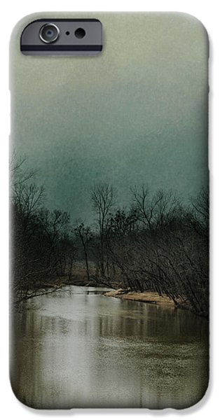 Winter Scene iPhone Cases - Cold Day At The River iPhone Case by Jai Johnson