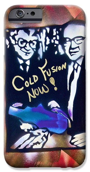 Technology iPhone Cases - Cold Fusion Now red iPhone Case by Tony B Conscious