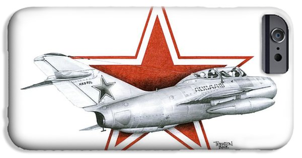 Jet Star Mixed Media iPhone Cases - Cold War Relic iPhone Case by Trenton Hill