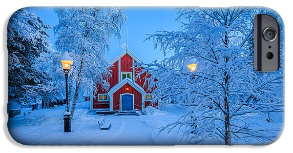 Lapland iPhone Cases - Cold Winter With Temperatures Going iPhone Case by Panoramic Images