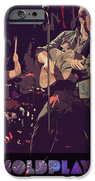 Custom Made iPhone Cases - COLDPLAY poster iPhone Case by Farhad Tamim