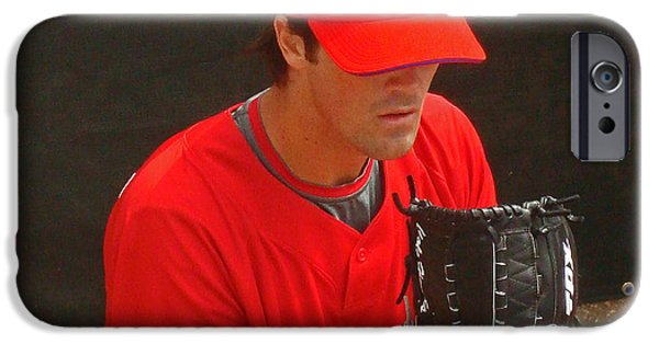 Cole Hamels iPhone Cases - Cole iPhone Case by David Rucker