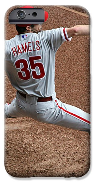 Cole Hamels - Pregame Warmup iPhone Case by Stephen Stookey