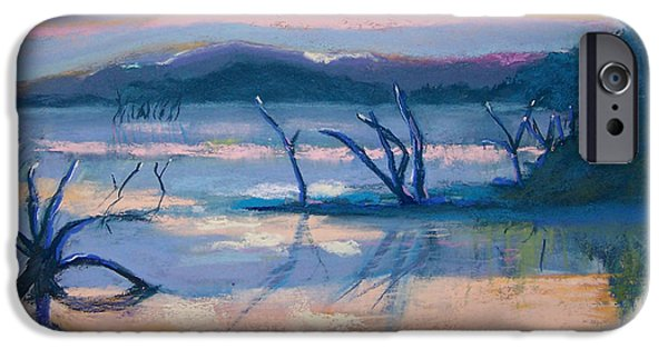 Morning Pastels iPhone Cases - Coletta Lake iPhone Case by Charles Krause