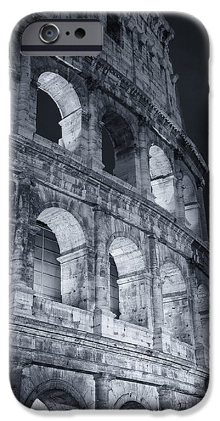 Recently Sold -  - Ruin iPhone Cases - Colosseum Before Dawn iPhone Case by Joan Carroll