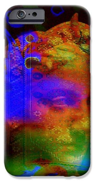 Oil Slick iPhone Cases - Rainbow woman iPhone Case by Joel Zimmerman