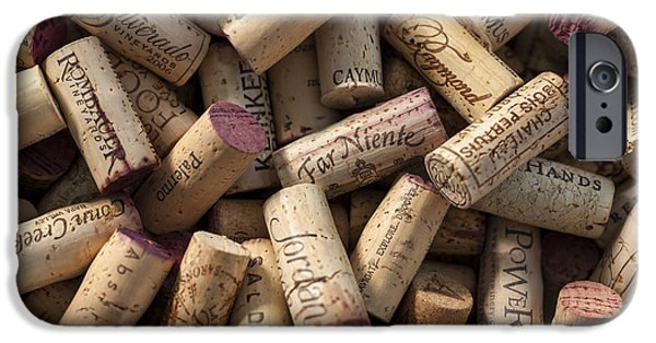 Vineyard Art iPhone Cases - Collection of Fine Wine Corks iPhone Case by Adam Romanowicz