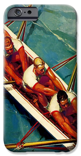 Recently Sold -  - Charles River iPhone Cases - Crew Race - At the Beach America iPhone Case by Private Collection