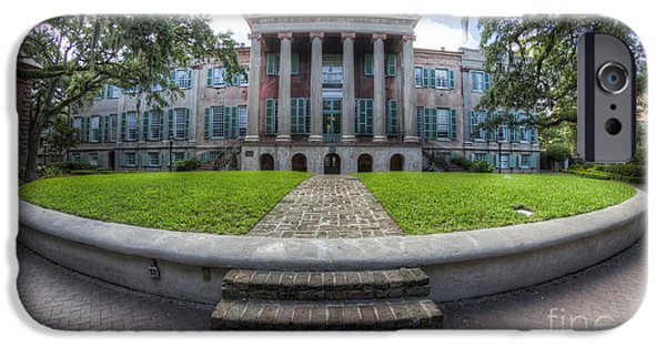 College iPhone Cases - College of Charleston Randolph Hall Cistern iPhone Case by Dustin K Ryan