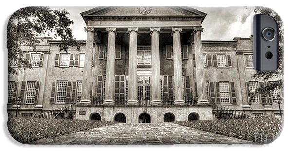 College iPhone Cases - College of Charleston Randolph Hall Sepia iPhone Case by Dustin K Ryan