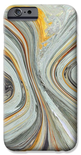 Oil Slick iPhone Cases - Colliding Circles iPhone Case by Christine  Dekkers