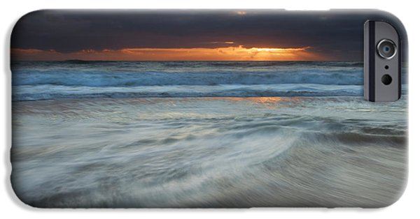 Lincoln iPhone Cases - Colliding Tides iPhone Case by Mike  Dawson