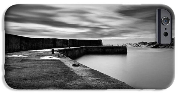 North Sea Photographs iPhone Cases - Collieston Breakwater iPhone Case by Dave Bowman