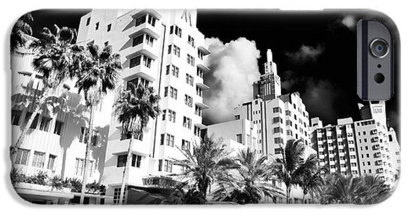Fine Art Photo iPhone Cases - Collins Avenue iPhone Case by John Rizzuto