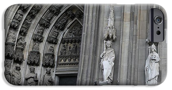 Historic Site iPhone Cases - Cologne Cathedral South Side Detail 1 iPhone Case by Teresa Mucha