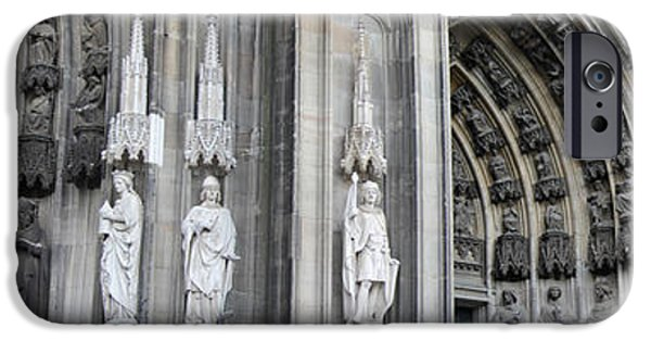 Historic Site iPhone Cases - Cologne Cathedral South Side Detail 2 iPhone Case by Teresa Mucha